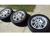 PEUGEOT 206 GLX WHEELS ONLY (3) THREE
