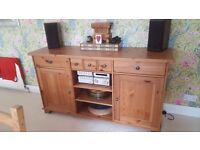 Wooden Sideboard (Solid wood apart from back and draw bottoms) Great Condition