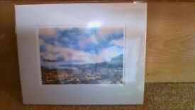 Beautiful mounted prints by renowned Borders artist EACH