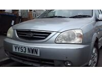 Kia Carens One Previous Owner Silver Manual Ice Cold Air Conditioning Reversing Sensors