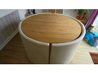 Large space saver dining table and chairs