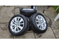 "Volkswagen/Audi/Seat/Skoda 15"" x4 Alloys with UniRoyal Tyres"