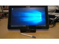 """Samsung Windows 10 tablet, 12 """", with stylus, docking station and leather case."""
