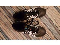 Adidas black x 15.1 children's football boots