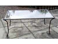 High Quality Glass and Metal Coffee Table
