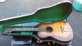 Vintage 1940's Harmony Acoustic Guitar