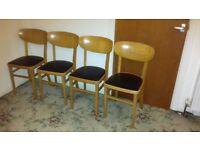 4 vintage Centa chairs