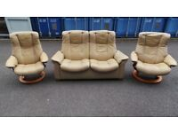 Ekornes Stressless Suite,Sofa with two Recliners,armchairs,Possible Delivery
