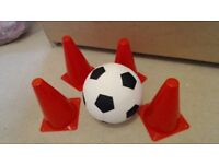 Kids Football And 4 Cones