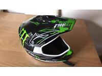 Oneal monster energy motocross helmet size medium