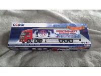 CORGI CC13826 MONTGOMERY TRANSPORT MERCEDES ACTROS FRIDGE TRAILER SCALE 1:50