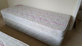 USED SINGLE BASE AND MATTRESS. FREE LOCAL DELIVERY