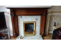 Fire surround 56 inches wide 46 inches high excellent condition
