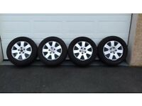 VW TRANSPORTER ALLOY WHEELS AND TYRES 16 INCH