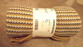 Ikea Throw ORMHASSEL Yellow/grey (BNWT)