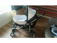 Oram and pushchair