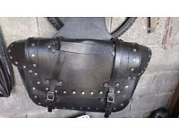 Motorbike leather panniers bag