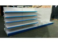 Metal shelving for shop