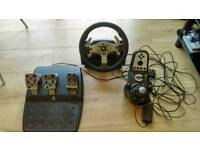 Logitech G25 PC/PS3 steering wheel