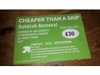 LOW COST RUBBISH REMOVAL