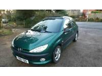 Peugeot 206 2.0 tdi Genuine low milage, Year long MOT