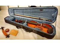 Violin with bow and case £30