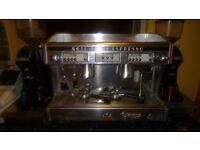 Astoria semi automatic coffee machine and 2 Euroka Automatic grinder