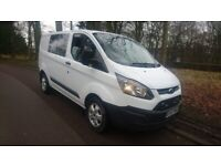 Ford transit custom crewvan, low miles, euro 6 , 1 owner ,£12,995 ono NO VAT cash welcome