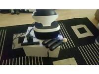 PS4. VR head set