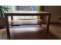 IKEA bundle floor lamp and oak look coffee table