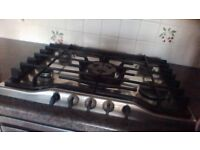 Gas hob, AEG single electric built in oven, 50-50 fridge freezer,