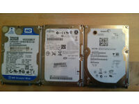 3 Laptop hard drives