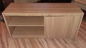 Tv unit light oak and small sideboard good condition