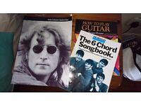 Guitar books (how to pkay, Beatles 6 chord & John Lennon Anthology)