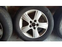 Vauxhall Vectra Signum Zafira Astra car Alloy Wheel and tyre 215 55 16