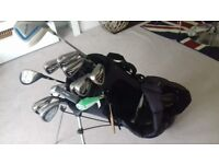 Set of Dunlop Golf Clubs with Hippo Bag and stand