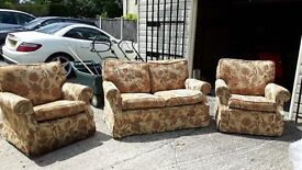 2 seater sofa and 2 arm chairs