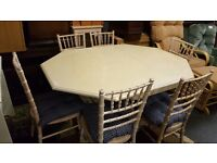 dinning table and 6 chairs with cushions for sale