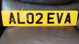 AL02 EVA PRIVATE REG PLATE FOR SALE