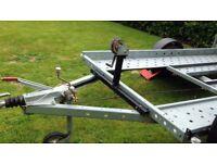 Woodford Car Trailer- 10ft 1300kg Gross single axle
