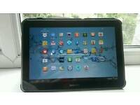 Samsung galaxy tab p7500 32gb wifi and unlocked work with sim cards comes with Samsung case