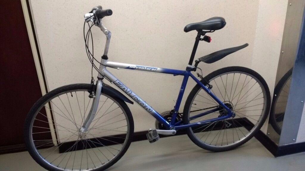 "Falcon Shimano Hybrid 28"" (700C) wheels, adult man ladies lightweight town city bike £90"