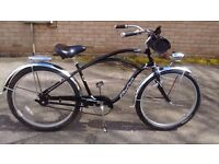 ELECTRA. Beach cruiser, low rider retro style cycle, with extras