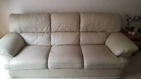 3 and 2 Seater Cream Sofas