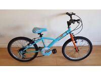 B Twin Girls bike - 20 inch wheels. (Suit age: 8 to 12 years).