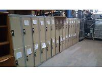Steel Lockers Brown 4 door