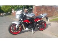 SOLD 2015 Triumph Street Triple 675 RX ABS- As New with extras. 3900 miles, Full Dealer Hist