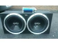 15 inch twin sub sony & class D amp jbl