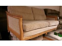 Ercol Bergere 2 Piece Suite Comprising 2/3 Seater Settee Sofa and Chair