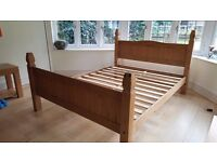 King Size Solid Pine Slatted Bed.